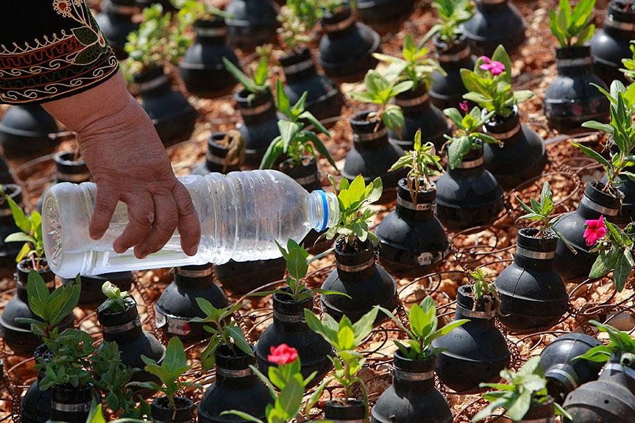 Záhrada z použitých granátov